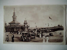The Pier Bournemouth 1916 Old Postcard Shows Vintage Cars Crowds on packed Pier