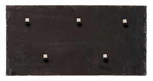 Magnettafel aus Schiefer Gestein + 5 Neodym Magnete 50*25cm Magnetwand Pinnwand