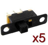 Lot 5 interrupteurs 20x5x11mm 3 broches / 5x Switch black button to weld 3 pins
