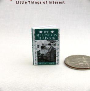 AFTERNOON TEA BOOK Miniature Book Dollhouse 1:12 Scale Book Readable Illustrated