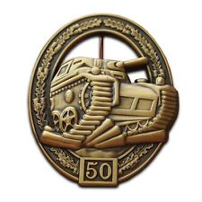 More details for tank badge german panzer assault army pz kpfw iii. military gift ww2 brooch pin