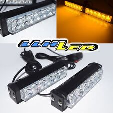 WATERPROOF AMBER 12 LED WARNING STROBE LIGHT SUV/4X4/ATV/BOAT/BUS/OFF ROAD BLINK