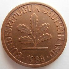 1988 GERMANY 1 PFENNIG J