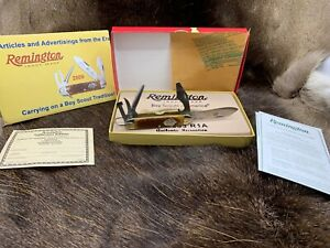 """Remington 2009 Boy Scout Knife Made Like The 1924 Knife In Collector Box """"Mint"""""""