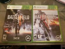 Battlefield 4 and Battlefield 3 lot (Microsoft Xbox 360, 2013) Good Condition