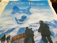 "RARE WALT DISNEY ORIGINAL FRENCH MOVIE POSTER ""CROC-BLANC"" / ""WHITE FANG"" - NEW"