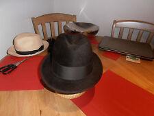 Vtg Scotts & Co Brown Felt Narrow Brim Hat size 7 1/8