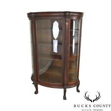 Antiques Well Presented Glass China Cabinet Dated 1870