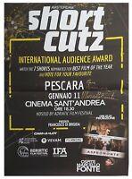 Marcello Fonte Poster Short Cutz Pescara Autografato Autografo Signed Cinema