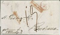 1848 WRAPPER TO BORDEAUX, FRANCE FROM BOMBAY SENT VIA STEAMER ARR PMK! 01ST MAR