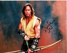 KEVIN SORBO hand-signed HERCULES 8x10 uacc rd coa FANTASTIC BOW & ARROW CLOSEUP
