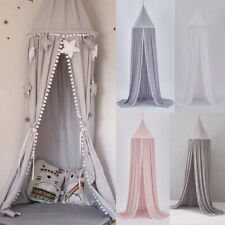 Kids Princess Bed Canopy Bedcover Mosquito Net Curtain Bedding Dome Tent AAA