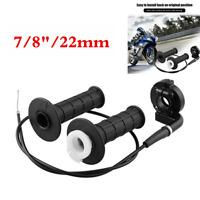 "Motorcycle 7/8"" Twist Throttle Handlebar Cable Kit For 50 150 250cc ATV PIT Bike"