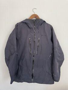 patagonia mens powslayer jacket medium goretex pro dark blue skisnowboard jacket