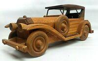 VINTAGE LTD EDITION Wooden Collectible American Keystone Mercedes Wooden Car