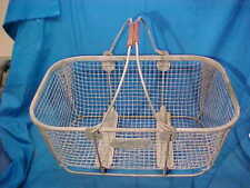 Orig 1930s WIRE Country Store SHOPPING BASKET w SWING HANDLES
