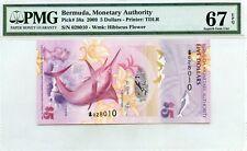 BERMUDA $5 DOLLARS 2009 MONETARY AGENCY PMG GEM UNC PICK # 58a VALUE $640