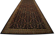 East Rug Fine Runner 105x485 CM 100% Wool Hand Knotted Anthracite Green