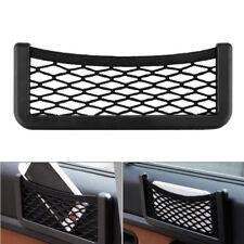 20x8cm Black Auto Car Storage Mesh Resilient String Bag Holder Pocket