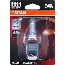 H11 OSRAM Night Racer +50 - mehr Performance Halogen Scheinwerfer Lampe Moto NEU
