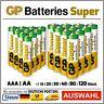 GP Super Alkaline Batterien AAA Micro l AA Mignon AUSWAHL LR03 LR06 1 -120 Stück