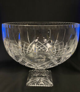 Barski European Crystal Large Centerpiece Footed/Punch Bowl