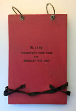 OBSERVER'S NOTEBOOK and AIRCRAFT W/T LOG - Issued Signal Office RAF Gosport 1933