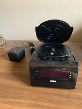 Oem Rca Rc5610-A Cd Am/Fm Radio Alarm Clock Black - Tested & Cleaned!