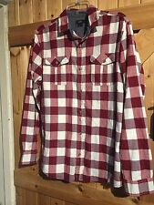 """Lovely Red White Check Shirt Size M (Medium) Chest 36"""" By F&F"""