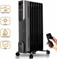 Radiator Heater - 1500W Oil Heater with Remote, 250 Sq Ft Coverage, Electric Spa