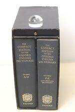 The Compact Edition of the Oxford English Dictionary + magnifier