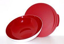 TUPPERWARE Allegra Servierschüssel 1,5L mit Deckel,Rot/Weiß