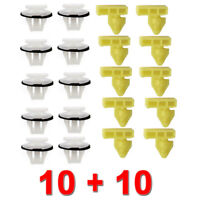 20PCS WHEEL ARCH TRIM CLIPS FOR NISSAN JUKE FRONT & REAR FULL SIDE WING SURROUND