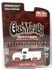 GREENLIGHT 51119 B GAS MONKEY GARAGE 1956 FORD F 100 PICK UP TRUCK 1/64 WHITE