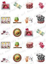 20 Casino Fun Water Slide Nail Art Decals 10 Asst. Designs Gambling Nail Decals