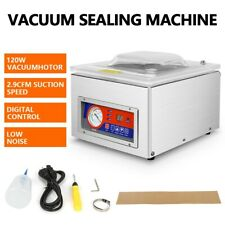 120w Digital Vacuum Packing Sealing Machine Commercial Table Top Chamber Sealer