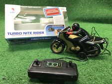 Vintage Shinsei Radio Controlled Turbo Nite Rider Motorcycle Drag Bike In Box Rc