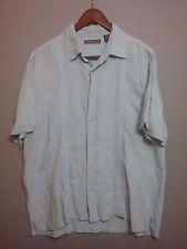 Cubavera XL light blue linen blend short sleve button down shirt
