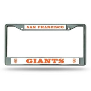 SAN FRANCISCO GIANTS METAL LICENSE PLATE FRAME FREE SHIPPING!! BRAND NEW