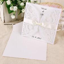 10pz. Biglietto d'Invito Partecipazioni Inviti Laser Cut con Busta Matrimonio