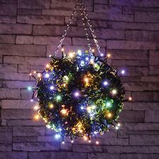80 LED Multicolor HADA DECORATIVO Luces PAtio Arbustos Árboles Exterior+