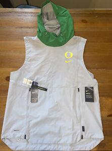 Oregon Ducks Nike Shield Hooded Vest Gray/Green Men's Size L Hoodie PE