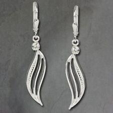 Orecchini di lusso bianchi zircone argento