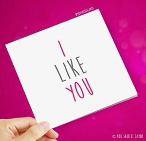 I Like You / Greeting Cards / Love / Valentine's Card