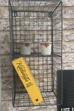 Metal Wire Locker Room Industrial Style Shelving Unit Grey 2 Shelf Wall Hanging