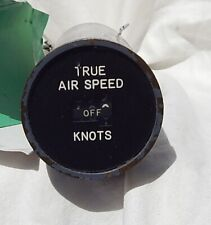 Boeing 727 Airliner Pilot's True Airspeed Indicator Gauge Instrument