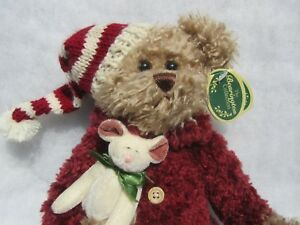 The Bearington Collection ~Twas the Night Before Christmas Bear New NWT Plush