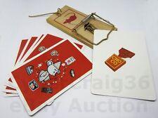 MOUSE TRAP CARD TRICK SCARY FIND FOOD MAGIC PIZZA NUT TUNA CAKE RICE & CHOCOLATE