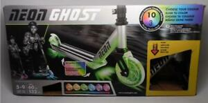 Yvolution Neon Ghost LED Scooter with Dynamic Lights for Kids Aged 5-9, 132 lbs