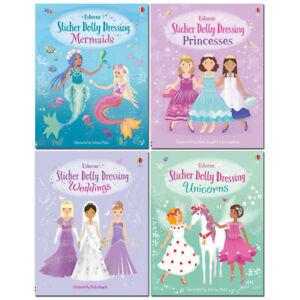 Usborne Sticker Dolly Dressing Collection 4 Books Set , Mermaids, Princesses...